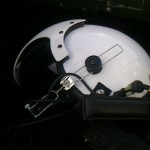 特注のヘルメット