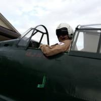 当プロジェクトのパイロット野口武彦氏が、戦後初、日本人としてゼロ戦のタキシングを行ないました!