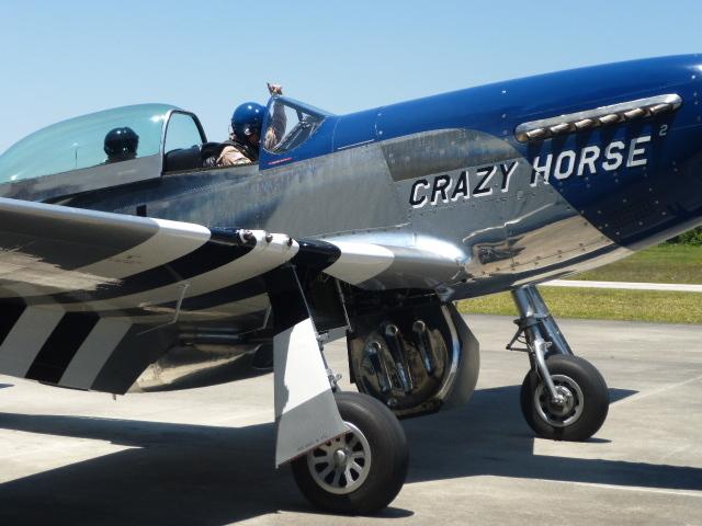 P-51 マスタングによる訓練のもよう